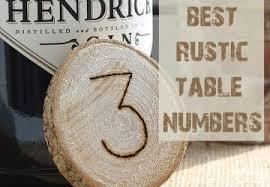 Top 7 Rustic Wedding Table Numbers