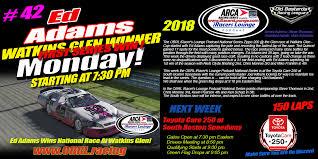 OBRL IRacers Lounge ARCA Series Watkins Glen Winner Ed Adams Poster ...