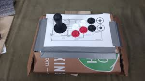 Made A Cardboard Prototype For The Arcade Controller That I Am Making My Retropie Now Ive Handled It Going To Make Some Small Changes In