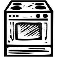 Royalty Free black white oven vector clip art image EPS