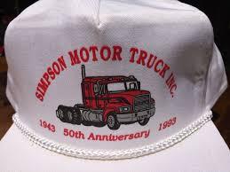 100 Mack Truck Hat Simpson Motor Snap Vtg Back Er Cap Vtg Snap 90s