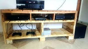 Home Made Tv Stand Homemade Wooden Pallet Media Console Or Stands For Sale
