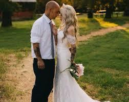 Boho Wedding Lace Dress Bohemian Rustic Dresss