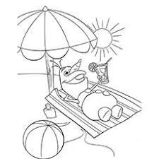 Picture of Summer Season Olaf Enjoying The Sun