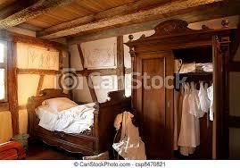 schlafzimmer des 19 jahrhunderts ein altes schlafzimmer