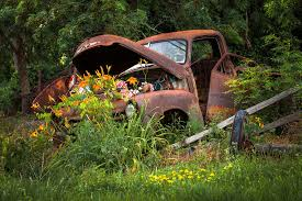 Rusty Truck Flower Bed