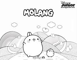 Molang Colouring Page 1