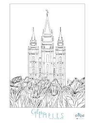 Salt Lake Temple Coloring Page