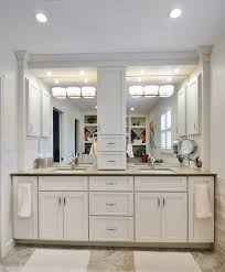 Double Bathroom Vanities With Dressing Table by Bathroom Cabinets With Center Storage Tower Google Search For