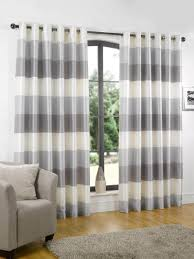 curtains grey and white striped tommy hilfiger cabana stripe gray