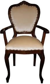 casa padrino barock luxus esszimmer stuhl mit armlehnen braun creme möbel