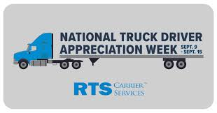 100 Rts Trucking RTS Carrier Services On Twitter This Week Is National Truck Driver
