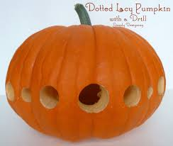 Drilled Pumpkin Designs by Dotted Lacy Carved Pumpkin With A Drill