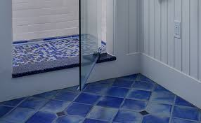 awesome cobalt blue bathroom floor tiles ideas and pictures