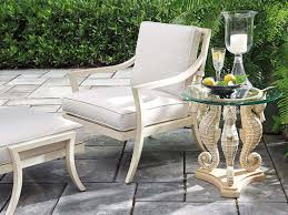 Tommy Bahama Outdoor Alfresco Living 20'' Round Sea Horse Table With ...