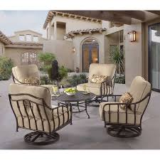 cortez 5 piece patio conversational seating with table