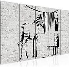 bild washing zebra banksy kunstdruck vlies leinwandbild