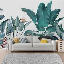 panorama tapete mit tropischen bananen