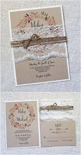 Vintage Lace Wedding Invitation Lace Wedding Invitation Rustic