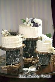 Tree Stump Wedding Cake Stand Wood Slices And Stumps Decor Wooden Bark Uk