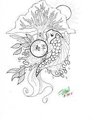 Koi Fish Coloring Sheets