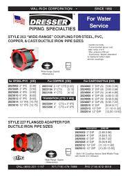 dresser coupling catalog bestdressers 2017