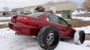 100 Wide Truck Tires Honda Accord With Huge OffRoad Doesnt Look Practical