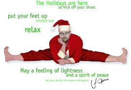 Daily Yoga Tip Christmas Greeting
