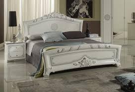 schlafzimmer great in weiss silber klassische design