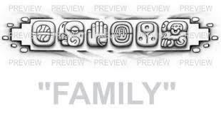 FAMILY Mayan Glyphs Tattoo Design C
