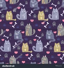 Cat Paw Print Pumpkin Stencil by Pet Theme Background Vector Pattern Cartoon Stock Vector 559229203