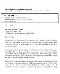 Sample Social Work Cover Letters Letter For Position Resume Worker