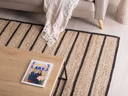 teppich karadona 140 x 200 cm schwarz beige ch