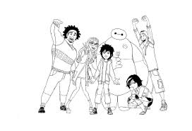 Free Big Hero 6 Coloring Pages To Print For Kids Download And Color