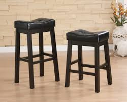 Great Idea of Saddle Bar Stools for a Wild West Feel