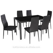 Home Dining Kitchen 6 Person Furniture Set With Glass Top Table Metal Leg  Chairs - Buy Glass Dining Set,Metal Dining Set,Hot Sale Dining Sets Product  ... Details About Set Of 5 Pcs Ding Table 4 Chairs Fniture Metal Glass Kitchen Room Breakfast 315 X 63 Rectangular Silver Indoor Outdoor 6 Stack By Flash Tarvola Black A 16 Liam 1 Tephra Alba Square Clear With Ashley 3025 60 Metalwood Hub Emsimply Bara 16m Walnut Signature Design By Besteneer With Magnificent And Ding Table Glass Overstock Alex Grey Counter Height