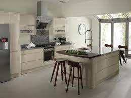 White Country Kitchen Design Ideas by White Country Kitchen Curved White Cherry Wood Kitchen Cabinets