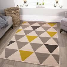 neu wohnzimmer teppich matte senf gelb ocker grau creme