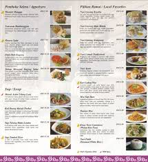 Menu at Mango Garden Restaurant of Rumah Terbalik Borneo