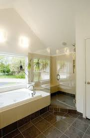 A Spa Like Master Suite Remodel With Modern Interior That Includes New Bath Fixtures Lighting And Tile