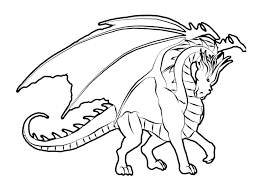 Printable Dragon Coloring Pages As Because Of Fire