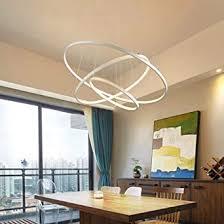 modern led pendelleuchte 3 ringe design pendelle metall decken hängeleuchte esstisch dekorative fisch kronleuchter kreative hängele esszimmer