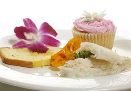 Coronation Chicken Tea Sandwiches Lemon Pound Cake And Fairy Cakes Were Served In A