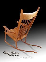 Rocking Chair. Handmade Of Black Cherry With Black Walnut ...