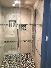 pebbles tiles in bathrooms