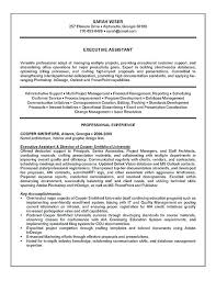 Executive Assistant Resumes Examples Resume Example 2016