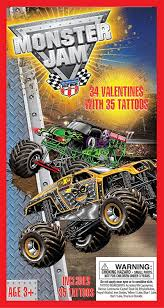 100 Monster Truck Tattoos Paper Magic 34CT Deluxe Jam Kids Classroom
