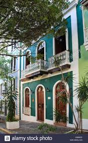 Usa Caribbean Puerto Rico San Juan Old Town Colonial Architecture