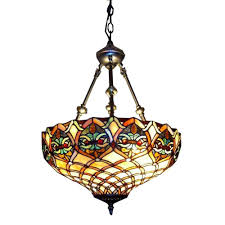 warehouse of 2 light brass inverted hanging pendant with