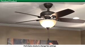Ceiling Fan Balancing Kit Uk by How To Install A Hunter 5xxxx Series Model Ceiling Fan Youtube
